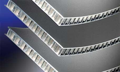 Aluminium Wabenverbundplatten.